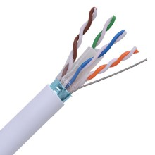 Cat6 Plenum Shielded CMP 23AWG Solid Copper 4-Twisted Pair