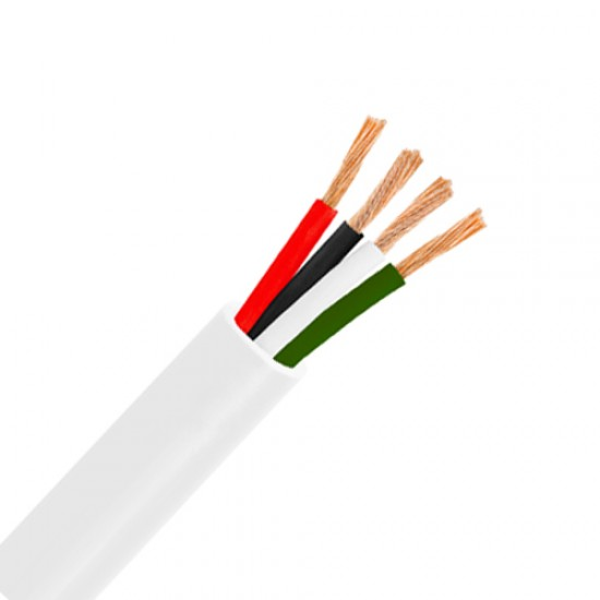 16 AWG Pure Copper Stranded Speaker Wire 4 Conductor