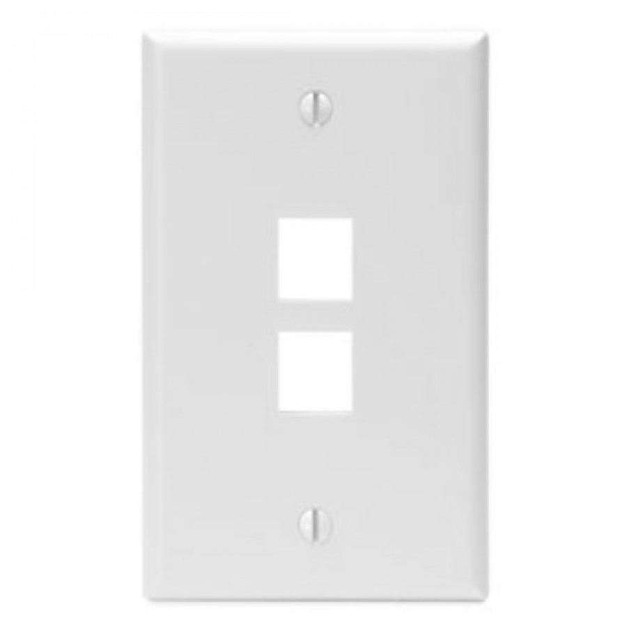 Single Gang Leviton Style Wall Plates - VERTEXCABLES