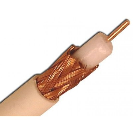 Coaxial RG59/U Shielded Solid Bare Copper Cable 1000ft