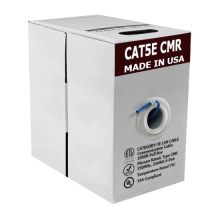 Cat5e Bare Copper | USA Made CMR | Unshielded | 1000ft