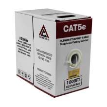 Cat5e Plenum | CMP Rated EZ Pull | Unshielded | 1000ft