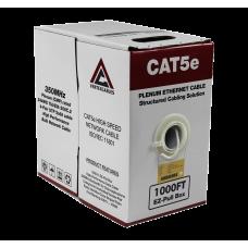 Cat5e Plenum | CMP Rated EZ Pull | Unshielded | 1000ft