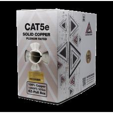 Cat5e Plenum | Bare Copper EZ Pull | Unshielded | 1000ft