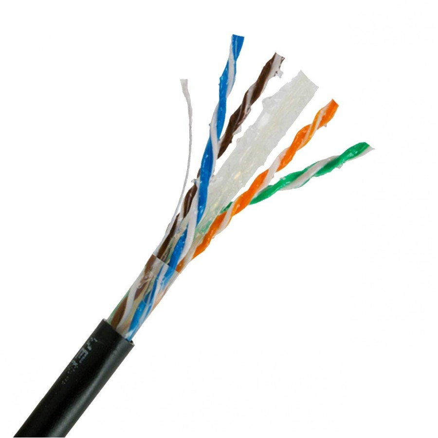 Category 6 1000ft Flooded Horizontal 23 AWG Solid Bare Copper Cable ...