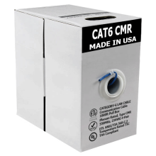 1000ft Cat6 BareCopper UTP 23AWG CMR Rated Cable