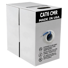 Cat6 Bare Copper | USA Made CMR | Unshielded | 1000ft