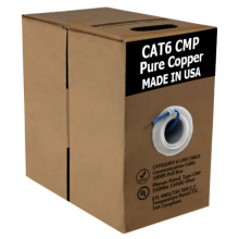 Cat6 Bare Copper | USA Made ETL/UL Listed | 1000ft