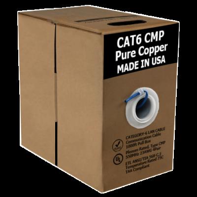 Cat6 Bare Copper | USA Made ETL/UL Listed | 1000ft