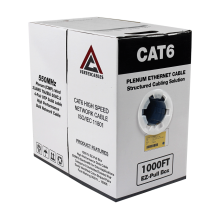 Cat6 Plenum | CMP Rated EZ Pull | Unshielded | 1000ft