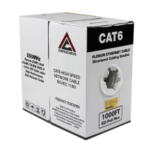 Cat6 Plenum | CMP Rated | Unshielded | 1000ft