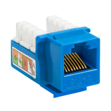 Cat6 Keystone Jack UTP Punch Down RJ45 Blue