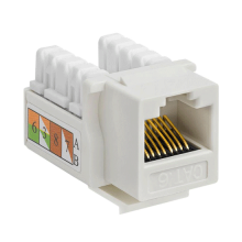 Cat6 Keystone Jack UTP Punch Down RJ45 White