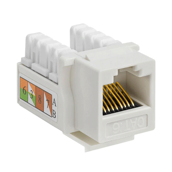 Cat6 Punch Down Keystone Jacks Vertex Cables