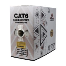Cat6 Plenum | Bare Copper EZ Pull | Unshielded | 1000ft