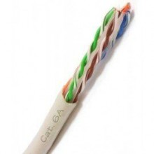 Cat6A Plenum | Bare Copper | 4-Pair Unshielded | 1000ft