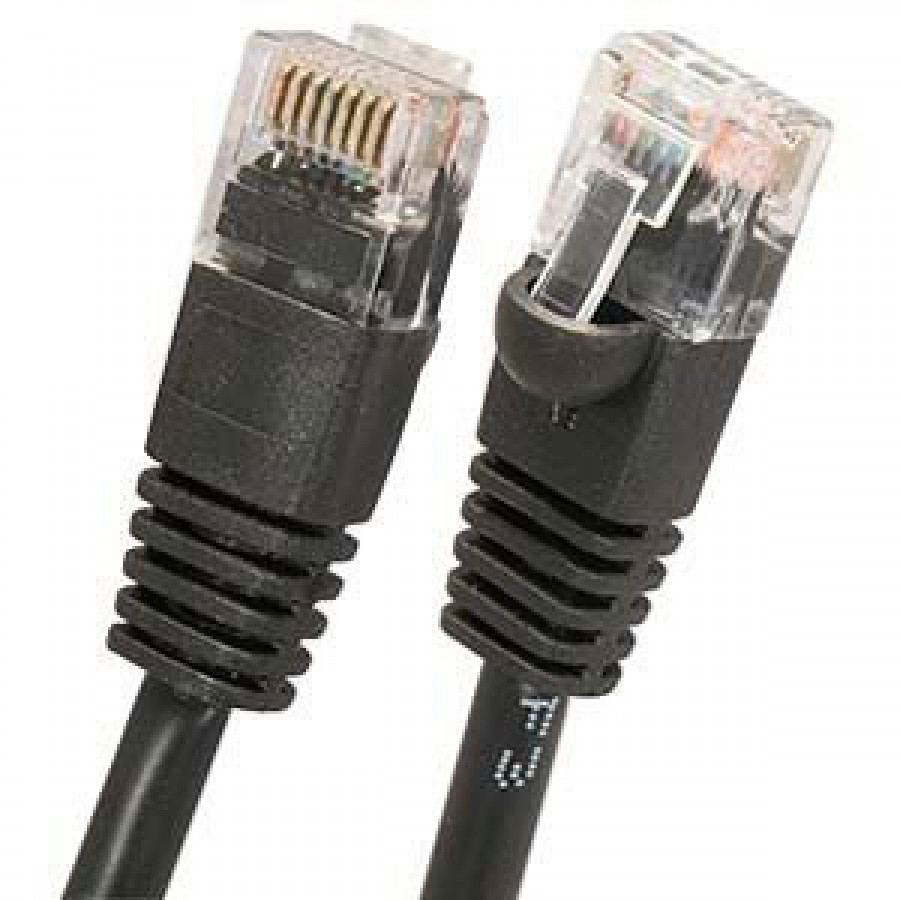 Cat6 Utp 550mhz Patch Cable With Molded Boots Vtxc6pcmbs Cat5e Ethernet Snagless Plenum 2539 Black Buble Spline