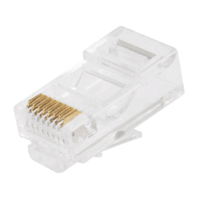 RJ45 Connector Solid 50 Micron Gold 3 Prong 8P8C Pack Of 100