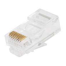 RJ45 Connector Solid 50 Micron Gold 3 Prong 8P8C Pack Of 50