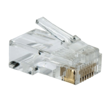 RJ45 Connectors Stranded 50 Micron Gold 8P8C Pack of 100