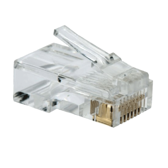 RJ45 Connectors Stranded 50 Micron Gold